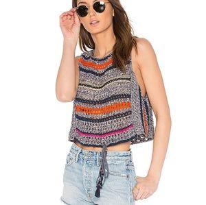 Free People Step Outside Crochet Sweater Tank